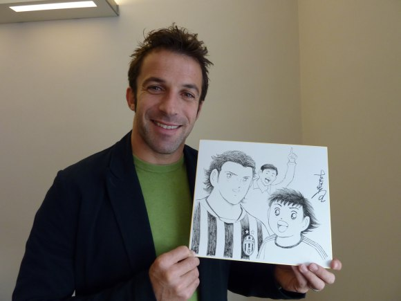 Del Piero and Tsubasa Drawing