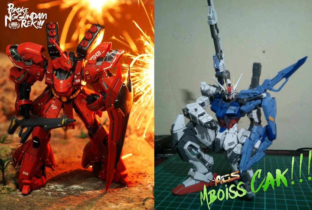MG Sazabi & Sword Strike Gundam