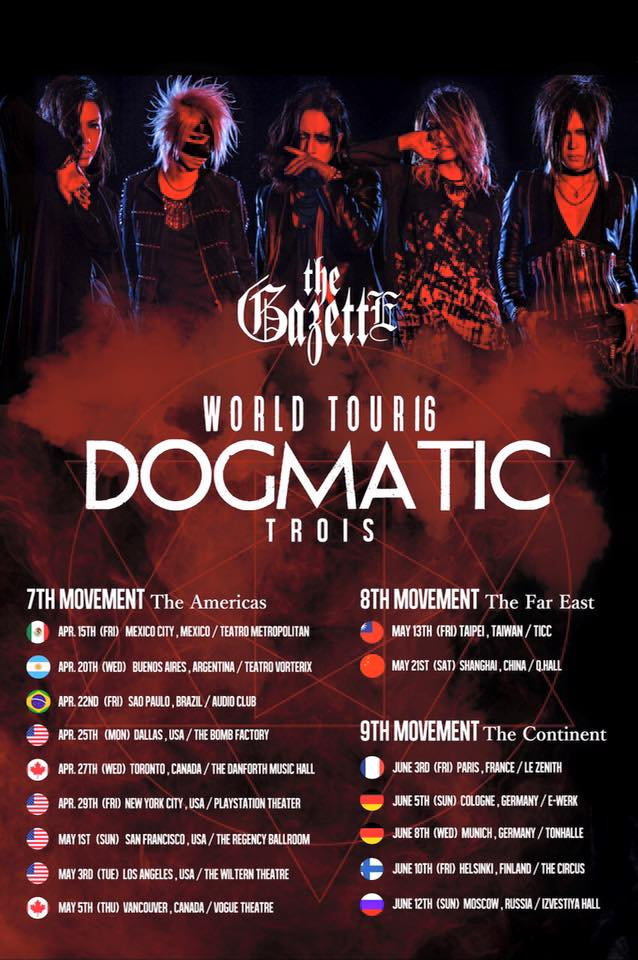 the GazettE World Tour