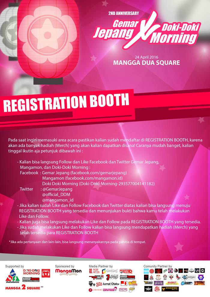 Flayer REGISTRATION BOOTH