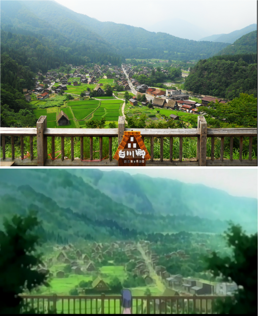 view of hinamizawa comparison