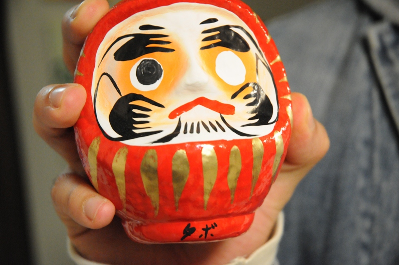 Daruma wishing a hope, but haven't granted