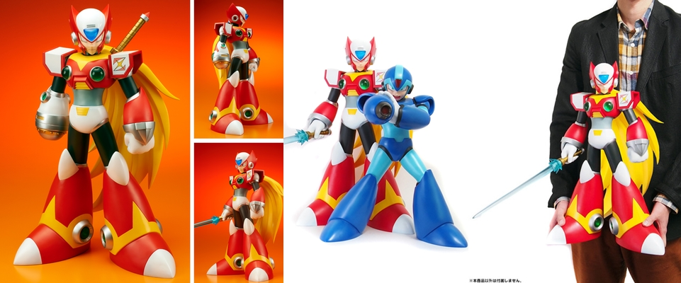 Equipped with Z - Saber & Z - Buster, Comparison with Gigantic Figure X and Human Size