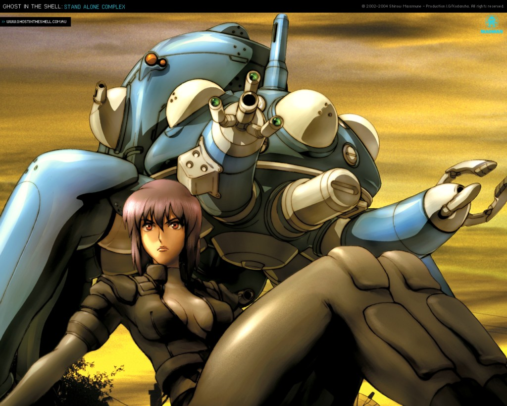 Ghost in the Shell Stand Alone Complex - GITS SAC Major and Tachikoma Wallpaper 1280x1024 www.greatguitarsound.blogspot.com