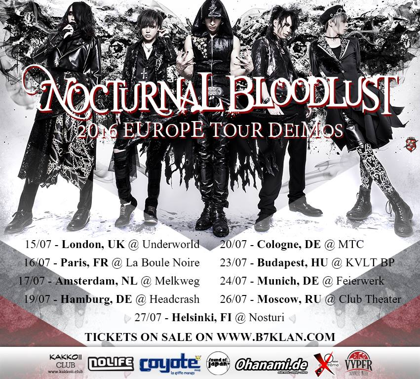 Video Message Tour Eropa NOCTURNAL BLOODLUST
